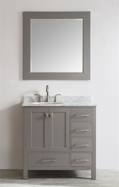 36 Vanities For Small Bathrooms by Eviva Aberdeen 36 Quot Transitional Grey Vanity With White