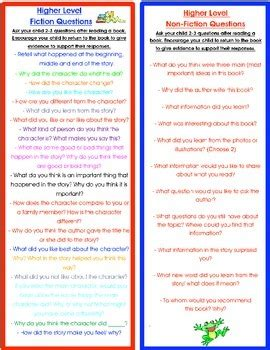parent resource fiction  informational questions