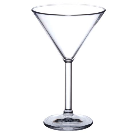 martini glass polycarbonate elite premium 7oz martini glass x 4pk love