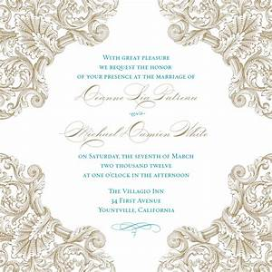 beautiful blank vintage wedding invitation templates With wedding invitations layout blank
