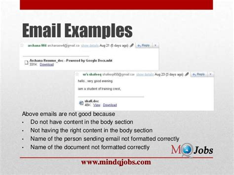 Email Etiquette For Submitting Resume by Email Etiquette