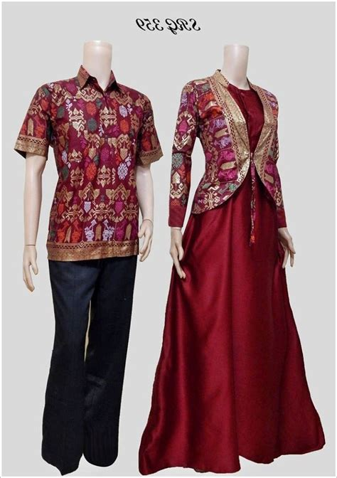 model baju batik couple blouse modern sarimbit