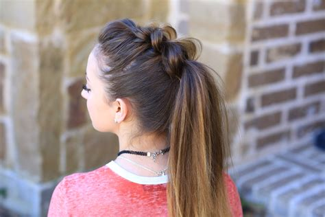 cutegirls hair styles pull thru ponytail hairstyles