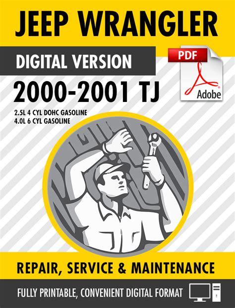 small engine repair manuals free download 2000 jeep grand cherokee lane departure warning 2000 2001 jeep wrangler tj factory repair service manual s manuals