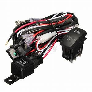 Wiring Harness Cable Led Light Bar Laser Rocker Switch 12v