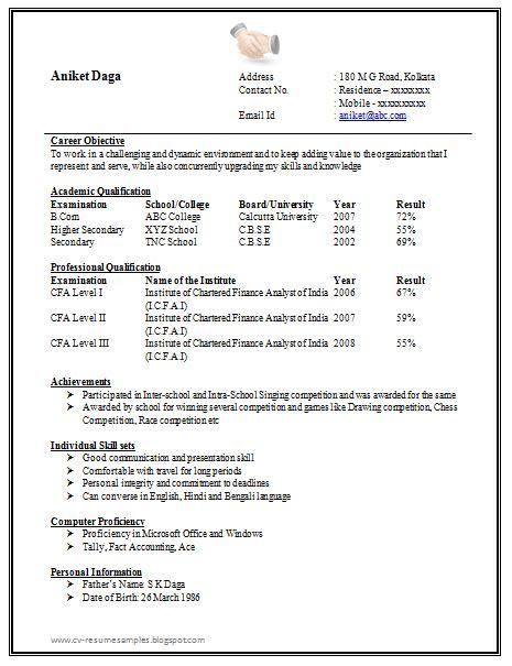 awesome  page resume sample  freshers career cv