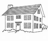 Casas Coloring Imprimir Colorir Desenhos Credit Larger Desenho sketch template