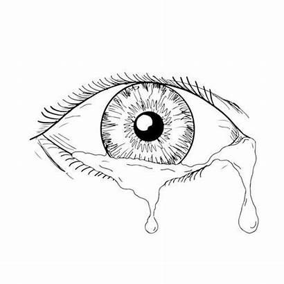 Eye Crying Sketch Drawing Occhio Disegno Human
