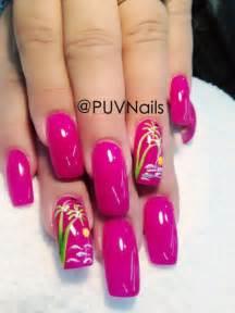 Summer gel nails design hair stuff