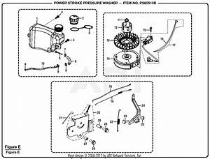 Homelite Ps80516b Powerstroke Pressure Washer Parts Diagram For Figure E