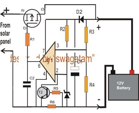 Simple Zero Drop Solar Charger Circuit Diagram