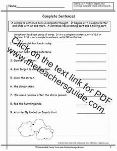 Sentences Worksheets From The Teacher U0026 39 S Guide