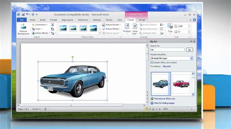 Windows Microsoft Word by How To Insert Clip In A Word File In Microsoft 174 Word