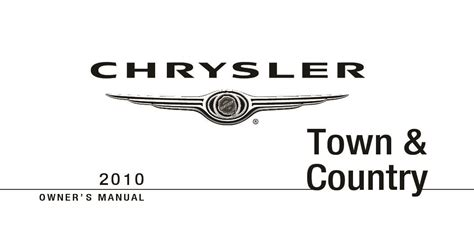 chrysler town  country owners manual  give