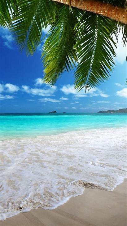 Beach Iphone Backgrounds Wallpapers Tropical Mobile Screensavers