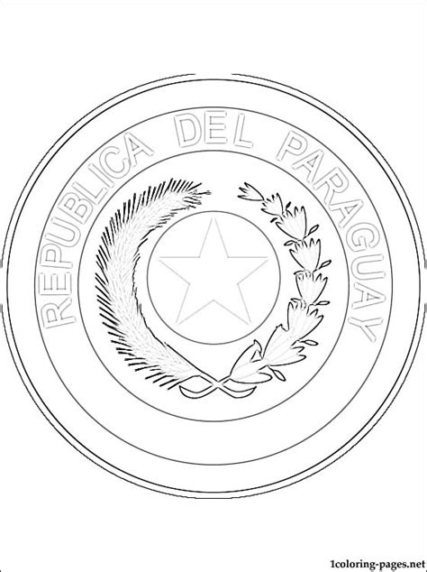 paraguay coat  arms coloring page coloring pages