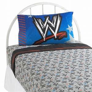 Wwe ringside sheet set home bed bath bedding sheets for Wwe bathroom set
