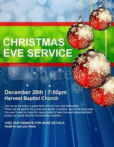Christmas Service Announcement Church Flyer Template ...
