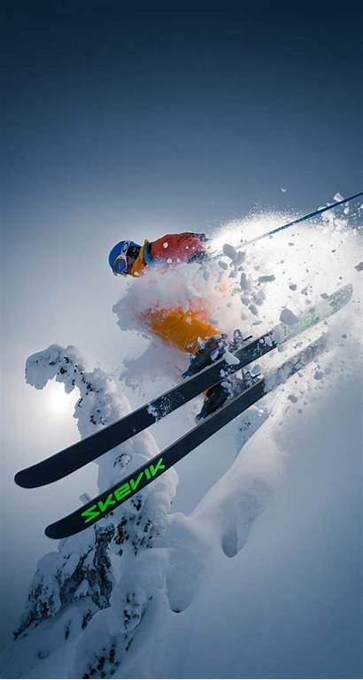 Skiing Ski Iphone Screensavers Track Field Snow