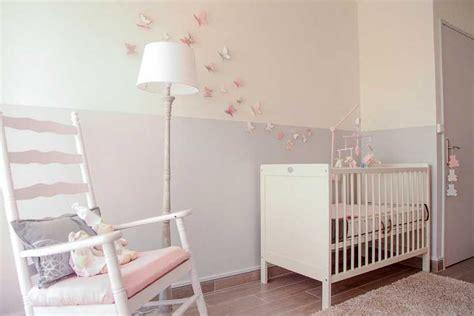 papier peint chambre b b mixte papillon stickers chambre bébé fille pas cher pour idées