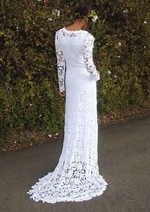 boho wedding dress simple crochet lace by With crochet wedding dress