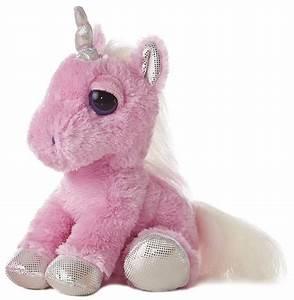 Heavenly Unicorn (Pink) Dreamy Eyes Stuffed Animal by