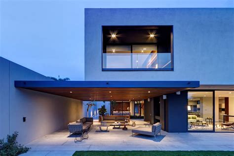 steel concrete and home with central courtyard