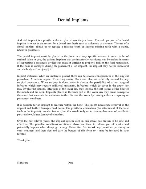 Resume Letter For Inplant by Research Consent Form Template Generic Sle Informed