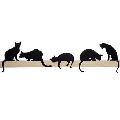 decorative wall shelf ideas cat 39 s meow oscar decorative cat silhouette by artori