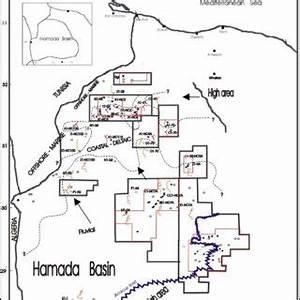 Facies Map Of The Ouankasa Formation  Hamada Basin  Nw