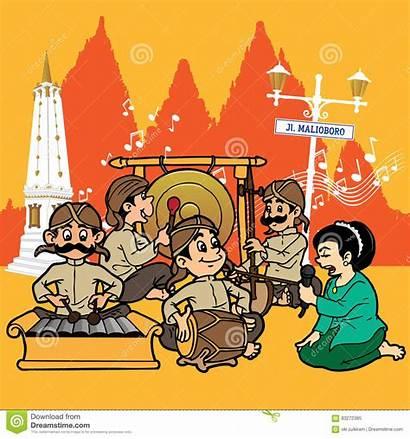 Tugu Gamelan Candi Clipart Sung Jogjakarta Illustrations