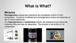 Pure substance vs mixture