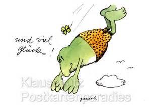 frosch sprüche janosch postkarten frosch viel glück