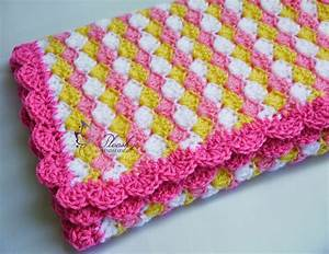 Plooshy Handmade  Adorable Crochet Baby Blanket  Pattern  Diagram