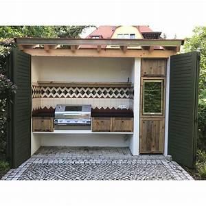 Outdoor Küche Bauen : l ndliche rustikale au enk che mit beefeater einbaugrill und berdachung rustic outdoor ~ Markanthonyermac.com Haus und Dekorationen