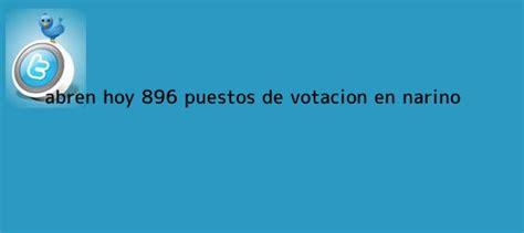jurado de votacion abren hoy  puestos de votacion en