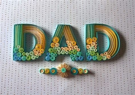 dad paper quilling  behance
