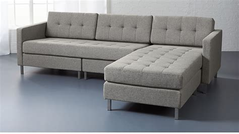 Cb2 Loveseat by Ditto Ii Grey Sectional Sofa Grey Cb2