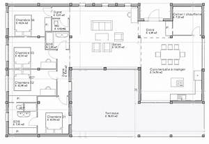 plan maison plain pied jura With good plan de maison 150m2 6 couleur maison construction plan de maison de plain pied