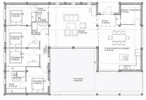 plan maison plain pied jura With good plan de maison 150m2 6 couleur maison construction plan de maison de plain pied