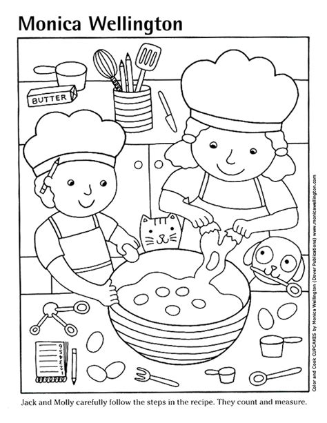 kitchen coloring page coloring cooking search coloring pages 3384