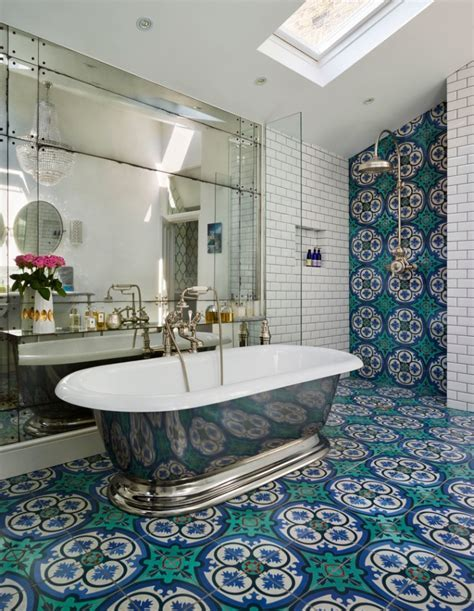 17  Floral Bathroom Tile Designs, Ideas   Design Trends