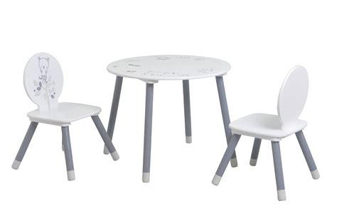 ensemble table et chaises enfant contemporain blanc gris