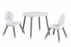 Ensemble Chaise Et Table : ensemble table et chaises enfant contemporain blanc gris ~ Dailycaller-alerts.com Idées de Décoration