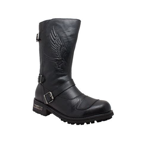 boots to ride motorcycle ride tecs mens black 12in shifter pad engineer boot
