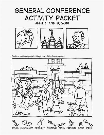Conference Lds General Packet Packets Coloring Activity