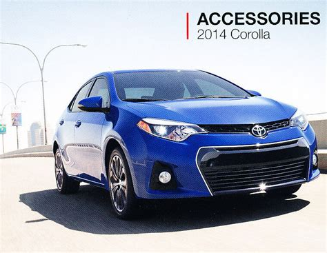 Toyota Corolla Accessories by 2014 Toyota Corolla 12 Page Accessories Original Car