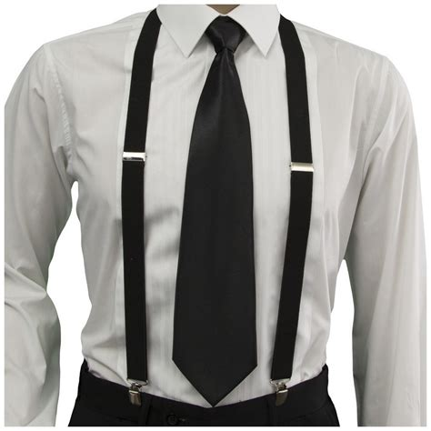 gassani mens gangster accessories necktie suspenders set