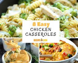 8 easy chicken casserole recipes recipelion