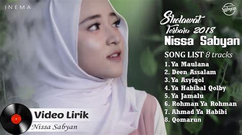 nissa sabyan full album video lirik lagu sholawat